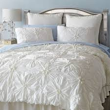 white ruched duvet cover blue and stripe urban outfitters twin xl