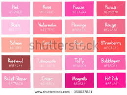 hot pink colour pink tone color shade background code stock vector 350037821