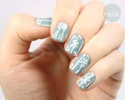 polish pals easiest snowflake tutorial christmas nails snowflake