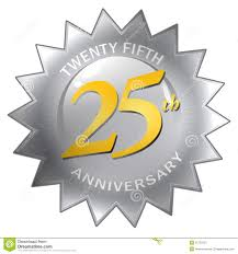 twenty fifth anniversary 25th anniversary seal stock illustration illustration of chrome