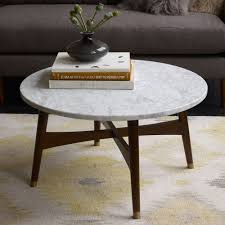 marble top coffee table to enhance the interior of living room