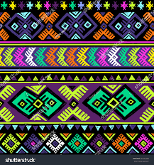 Tribal Print Wallpaper by Neon Dark Multicolor Tribal Seamless Pattern Stock Vector