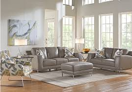 Innovative Grey Leather Living Room Set Excellent Design Gray - Gray living room sets