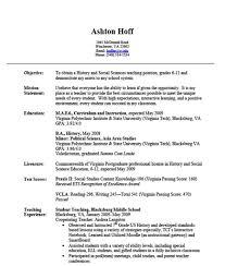 experience experienced teacher resume