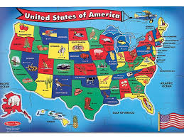 usa map jigsaw puzzle by hamilton grovely 3 map usa jigsaw major tourist attractions maps