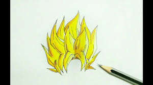 draw dragon ball hair
