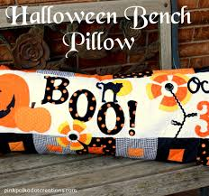 halloween pillow halloween bench pillow pink polka dot creations