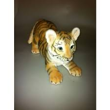 real playful tiger cub resin ornament by arts mill race