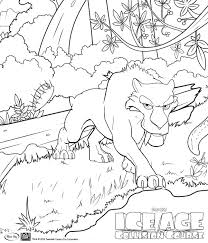 ice age collision course coloring pages getcoloringpages com