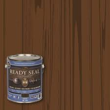 READY SEAL  Gal Coffee Ultimate Interior Wood Stain And Sealer - Interior wood stain colors home depot