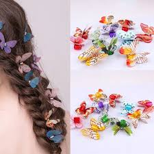 butterfly hair 10pcs butterfly hair braid dreadlock colorful adjustable