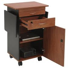multimedia cart with locking cabinet sound mmc cherry black finish multimedia cart