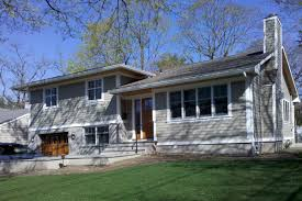 great split level exterior remodel in ny trim and siding looks