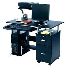 small black computer desk small computer desk with printer shelf computer desk with printer