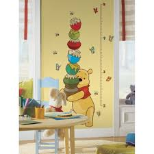 Wood Wall Stickers by Baby Nursery Decorative Kids Growth Chart Also As Wall Decor