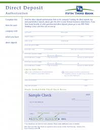 100 payroll direct deposit authorization form template free