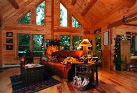 log homes interior a couple u0027s maine log home is their second