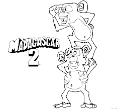 Download Monkey Coloring Pages Kids Madagascar 2 Print