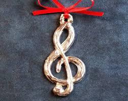 treble clef ornament etsy