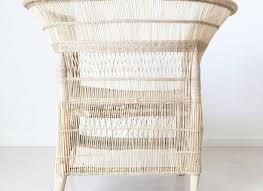 white wicker chair cane outdoor furniture sunroom furniture