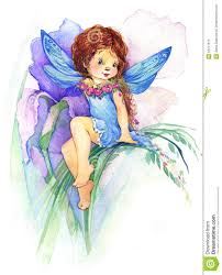 flower fairy watercolor drawing stock illustration image 55217513