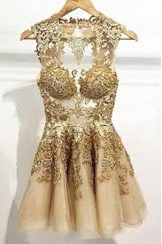 gold party dress appliques mini homecoming dresses gold party dresses o neck