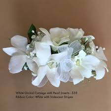 white orchid corsage prom formal 2016 bloomsbury park flowers the newton flower