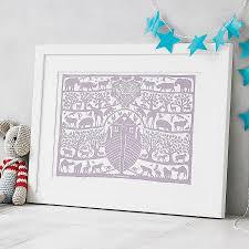 personalised noah u0027s ark heart print by glyn west design
