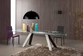 tavoli per sale da pranzo tavolo rettangolare piano in vetro per sale da pranzo idfdesign
