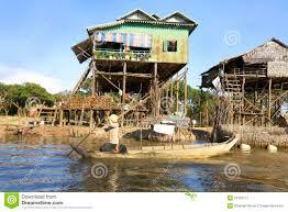 stilt house plans khmer house built on stilts stock photo image 51691533