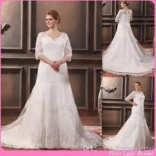 vintage wedding dress patterns 2015 patterns half sleeves plus size wedding dresses v neck