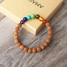 diy bracelet men images Nepal rudraksha wooden beads 8mm chakra bracelet men women diy jpg