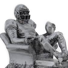 Armchair Quarterback Trophy Silver Armchair Quarterback Resin Fantasy Football Trophy Tempe