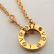cartier love necklace images Midunoya rakuten global market cartier love circle mini pink jpg