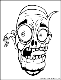 halloween scary masks coloring pages coloring home