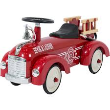 best choice products ride on fire truck speedster metal car kids