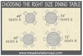 choosing the right size dining table circle table round dining