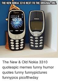 Funny Nokia Memes - the new nokia 3310 next to the originalone no sim card no si catd