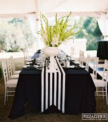black white striped table runner my black and white striped wedding shapes weddings and black