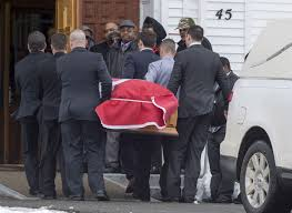 Picture Of Nova Scotia Flag Funeral Held For Former Soldier In Nova Scotia Murder