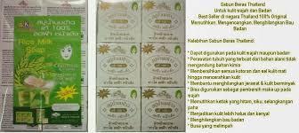 Sabun Thailand sabun beras thailand counter
