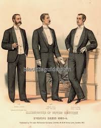 Mens Formal Wear Guide Black Tie Guide History Late Victorian