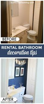 how to decorate a guest bathroom how to decorate your rental space bathroom rental decor