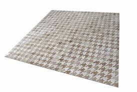 Area Rugs Beige Houndstooth White And Beige Leather Area Rug Shine Rugs