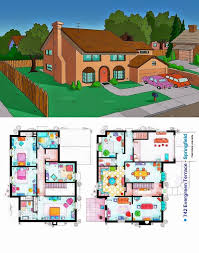 Simpsons Floor Plan The Simpsons House 742 Evergreen Terrace Springfield This