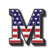 american flag 3d letter