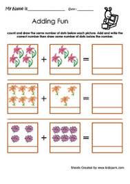 flower addition worksheets kindergarten addition simple math