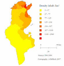 map of tunisia with cities the spatial influence of tunisian cities via the diffusion of