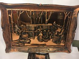 Copper Wall Decor by Vintage Copper Maple Sugar Time Wall Art Scene Wall Decor 4164