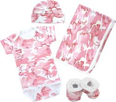 Camo Toddler Bedding Pink Camo Baby Clothes Deluxe Gift Set Baby N Toddler